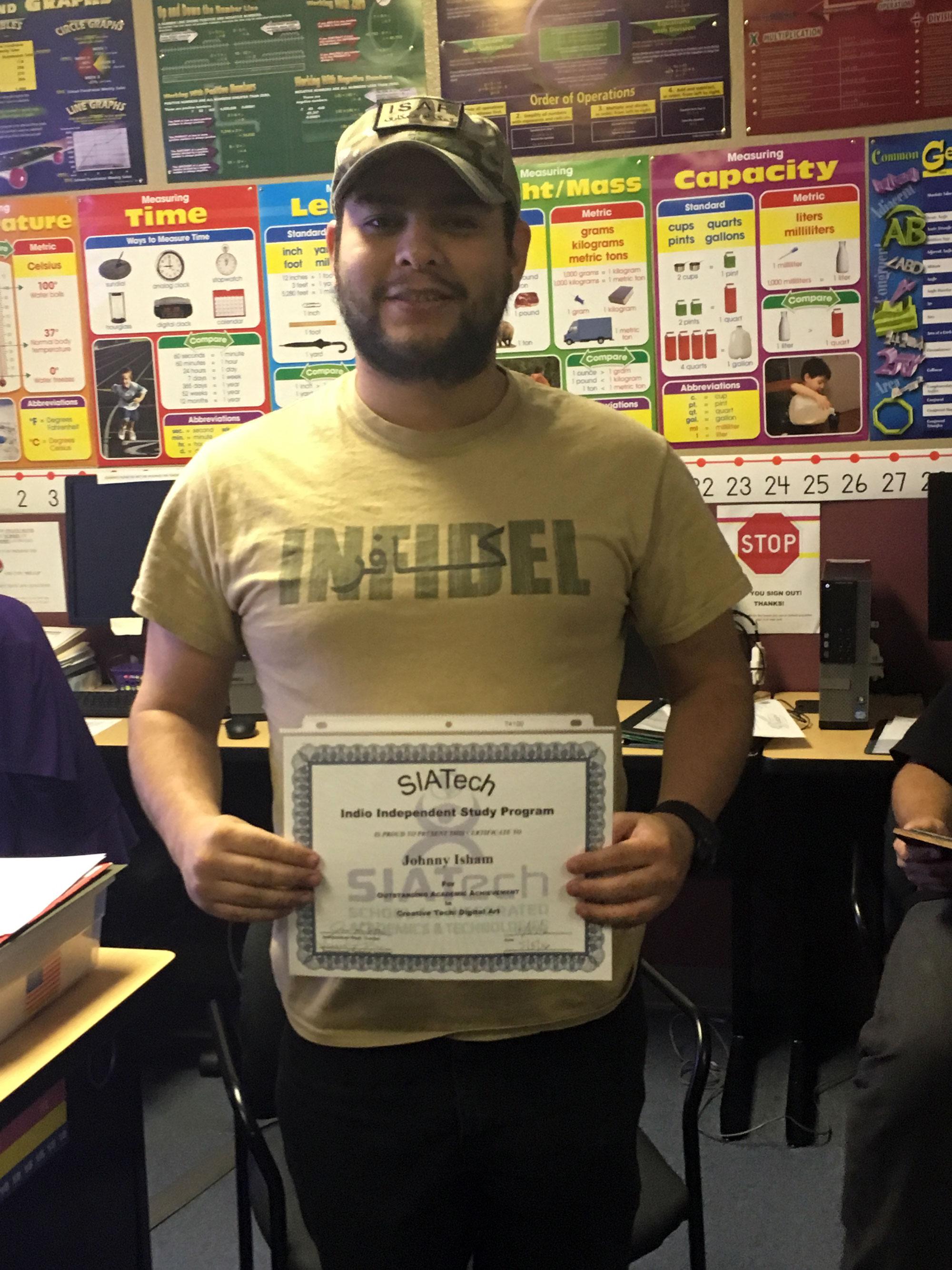 SIATech Indio Charter School Student Success Story.